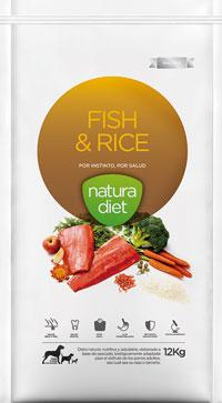 Croquettes naturelles chiens natura diet fish rice for Fish and rice diet