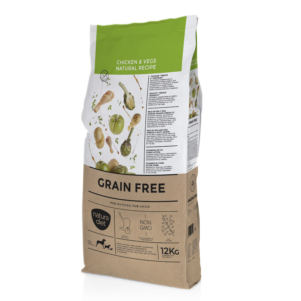 Natura Diet Grain Free Chicken & Vegs 12kg